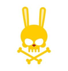 Cute rabbit skull with bones good honey head vector