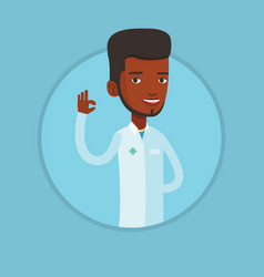 doctor showing ok sign vector image vector image