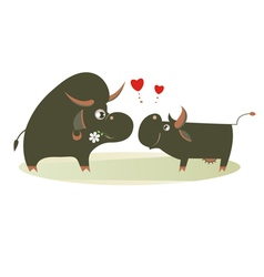 Farm animals fall in love vector