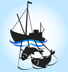 fishing vessel vector image