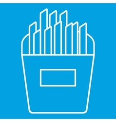 French fries thin line icon vector