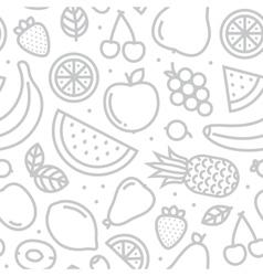 Fruits seamless pattern grey vector image vector image
