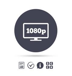 Full hd widescreen tv 1080p symbol vector
