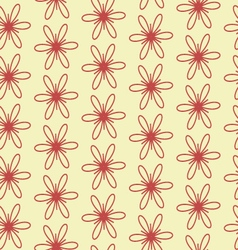 Geometric flowers vector