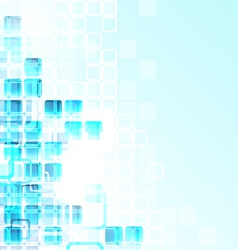 Glass Cubes Background vector image