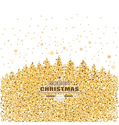 gold and white Christmas card vector image