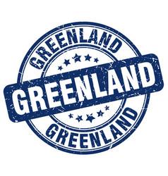 Greenland stamp vector
