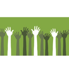 Hands in the air seamless vector