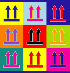Logistic sign of arrows pop-art style vector