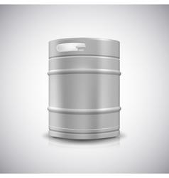 Metal beer keg vector image