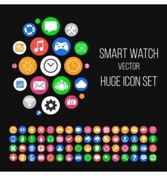 Modern smartwatch style background with huge set vector