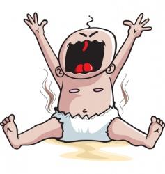 Screaming baby vector