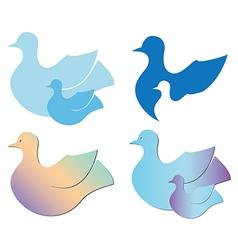 Set of birds for logo vector
