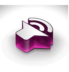 Speaker icon element vector image