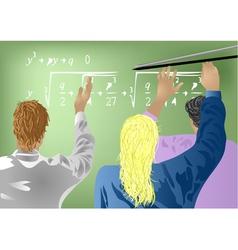 Students in school vector