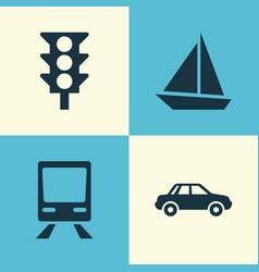 Transportation icons set collection of automobile vector