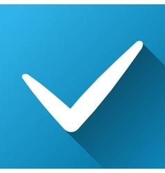 Valid gradient square icon vector