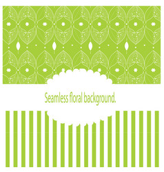 Vintage background with green leaves vector