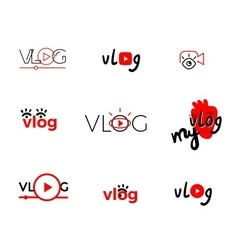 Vlog or video vector