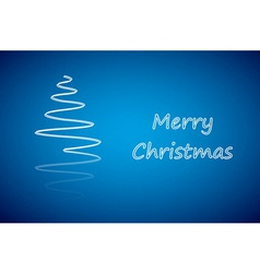White christmas tree new year card vector image vector image