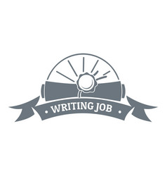 Writing job logo vintage style vector
