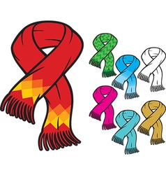 Scarf Icon Set vector image