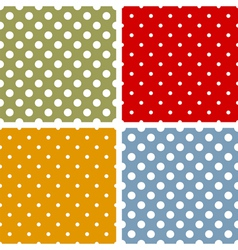 Seamless patterns with polka dots vector