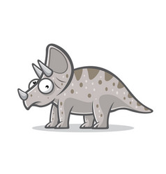 cartoon funny triceratops vector image