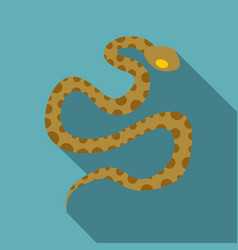 Brown spotted snake icon flat style vector