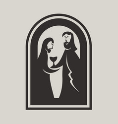 jesus and the disciple vector image