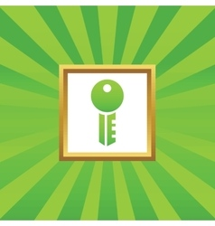 Key picture icon vector