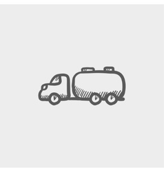 Truck liquid cargo sketch icon vector
