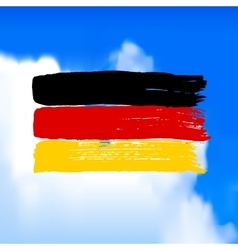 Flag of germany against the sky vector