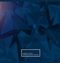 Abstract blue background with polygon shapes vector