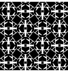 Abstract monochrome cells lattice pattern vector image