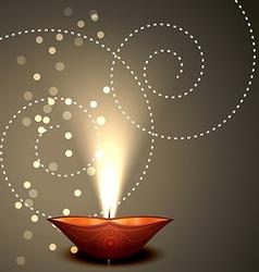 Background of Diwali vector image vector image