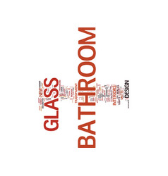 Bathroom in good shape part one text background vector