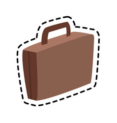 Brown suitcase icon image vector