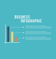 Business infographic graph design collection vector