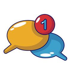 dialog icon cartoon style vector image vector image