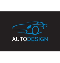 emblem of car vector image vector image