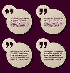 EPS10 paper quotation mark circle frames vector image