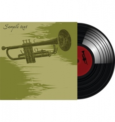 gramophone record vector image vector image