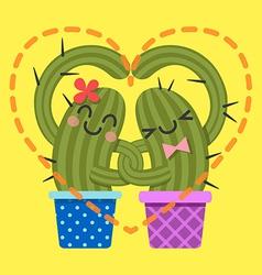 Heart cactus2 vector