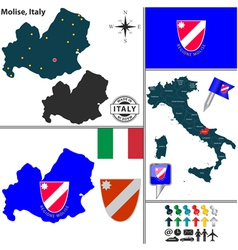 Map of Molise vector image vector image