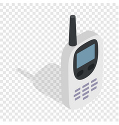 radio with gps navigator isometric icon vector image