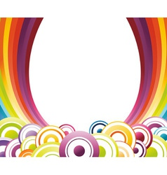 rainbow card template vector image vector image