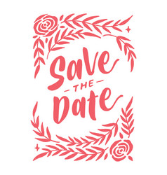 Save the date vintage lettering typography card 2 vector