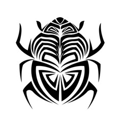 scarab beetle hand drawn doodle insect vector image