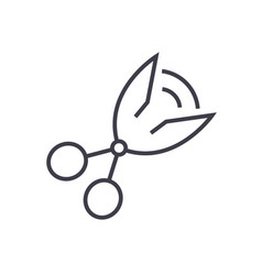 scissors line icon sign on vector image